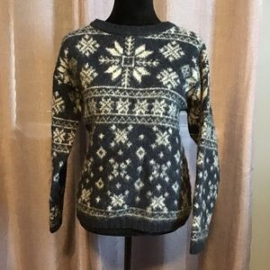 Woolrich wool snowflake sweater